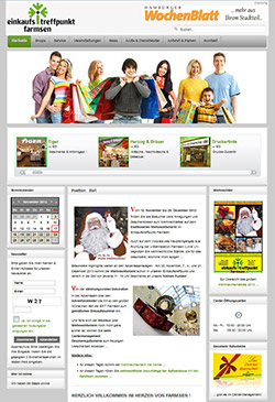 Bild Screenshot Homepage EKT Farmsen 2013 Weihnachten