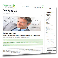 Bild Screenshots Homepage Ageless Beauty AntiAging SkinCare mit Beauty to go für Männer